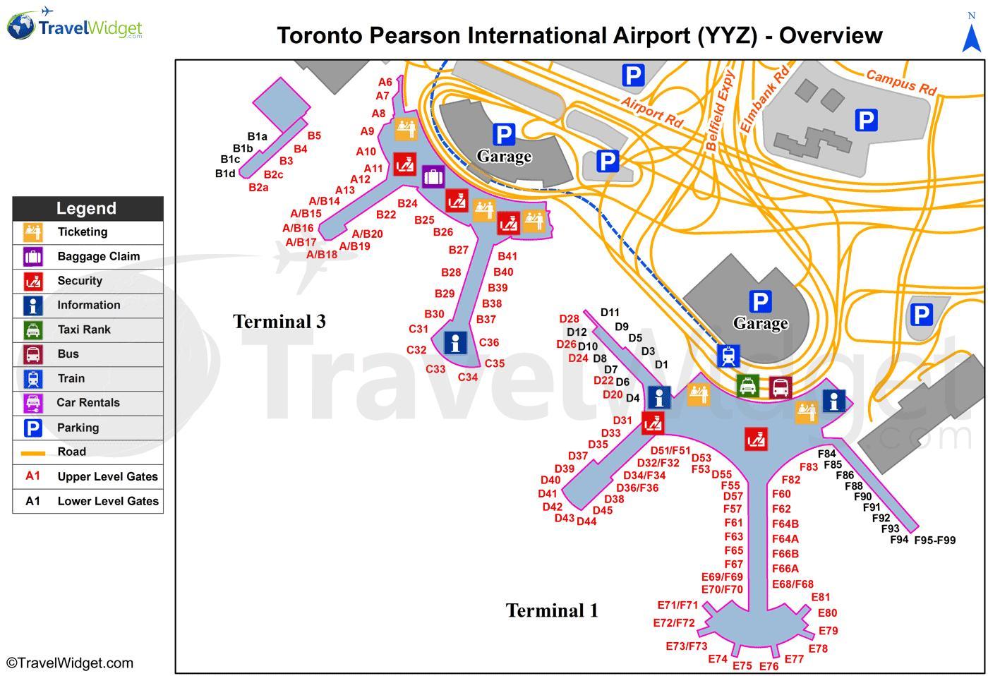Yyz Airport Mapa Yyz Mapa Canada - Canada mapa